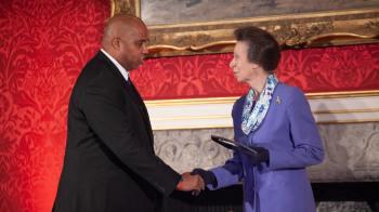CEO Bob Clarke & Anne, Princess Royal