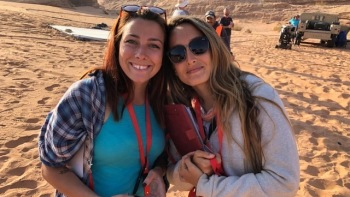 Ashley on location in Jordan